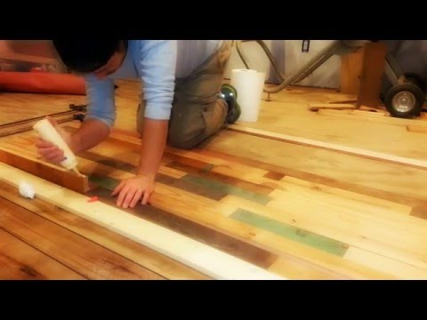 DIY Salvaged Wood Countertop- Part 2