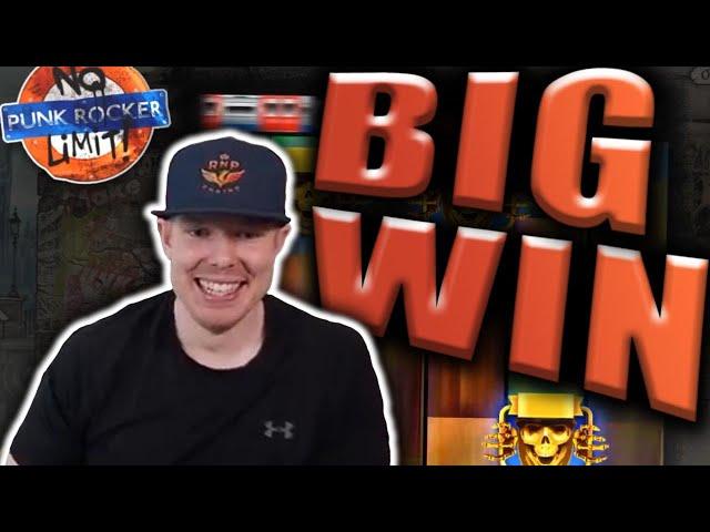 BIG WIN on PUNK ROCKER - Casino Slots Big Wins