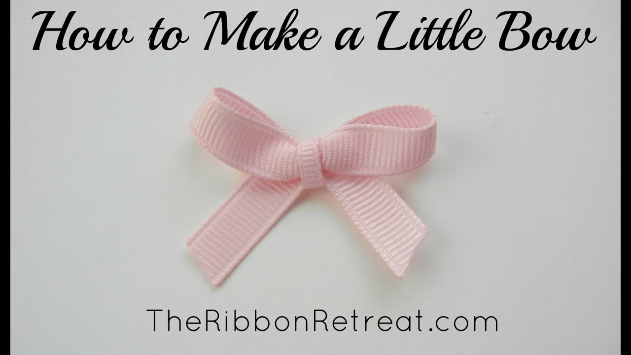 How to Make a Little Bow - TheRibbonRetreat.com - YouTube