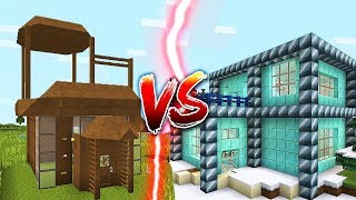 DIRT HOUSE VS DIAMOND HOUSE IN MINECRAFT!