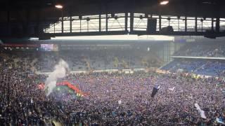 Arminia Bielefeld Hymne Wir sind die besten Fans der Welt Aufstieg 2.Liga SchücoArena 2015