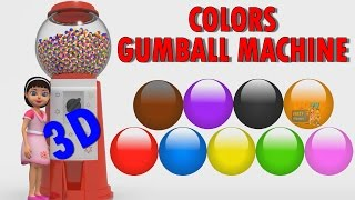 Baby Gumball Machine Colors   Colors for Children to Learn   Baby Teach Colors for Kids 3D