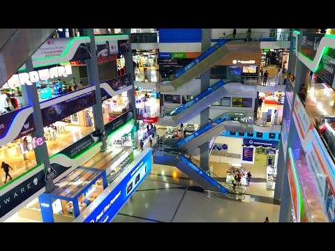 Pantip Plaza Shopping - Electronic Mall - Bangkok, Thailand 2017 HD