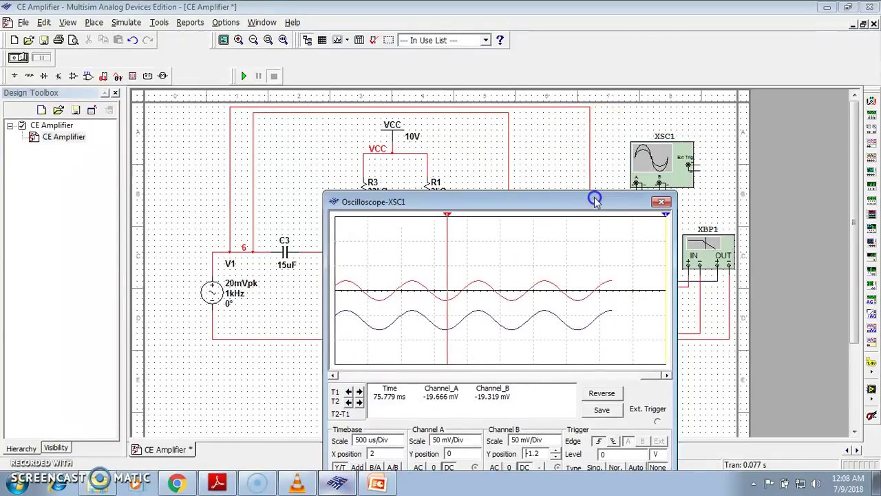 Multisim Simulation Of Common Collector Amplifier Youtube Lm741hc Operational As An Astable Oscillator Circuit Output