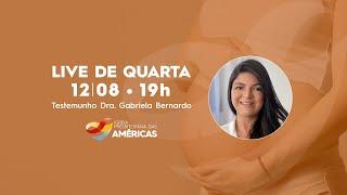 LIVE 12.08.20 | Rev Jr Vargas e Dra Gabriela Bernardo