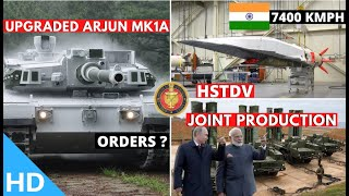 Indian Defence Updates : Mach 6 HSTDV Test,Arjun-MK1A Production,40mm UBGL Delivery,India-Russia JV