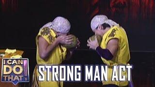 i can do that jc vs wacky kiray   strong man act