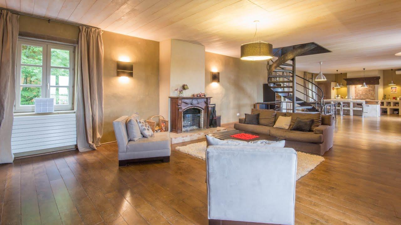 a vendre ferme r nov e 330m beaujolais 69 youtube. Black Bedroom Furniture Sets. Home Design Ideas