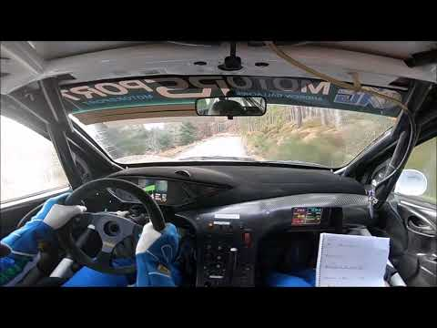 Andrew Gallacher Jane Nicol Snowman Rally 2018 SS5