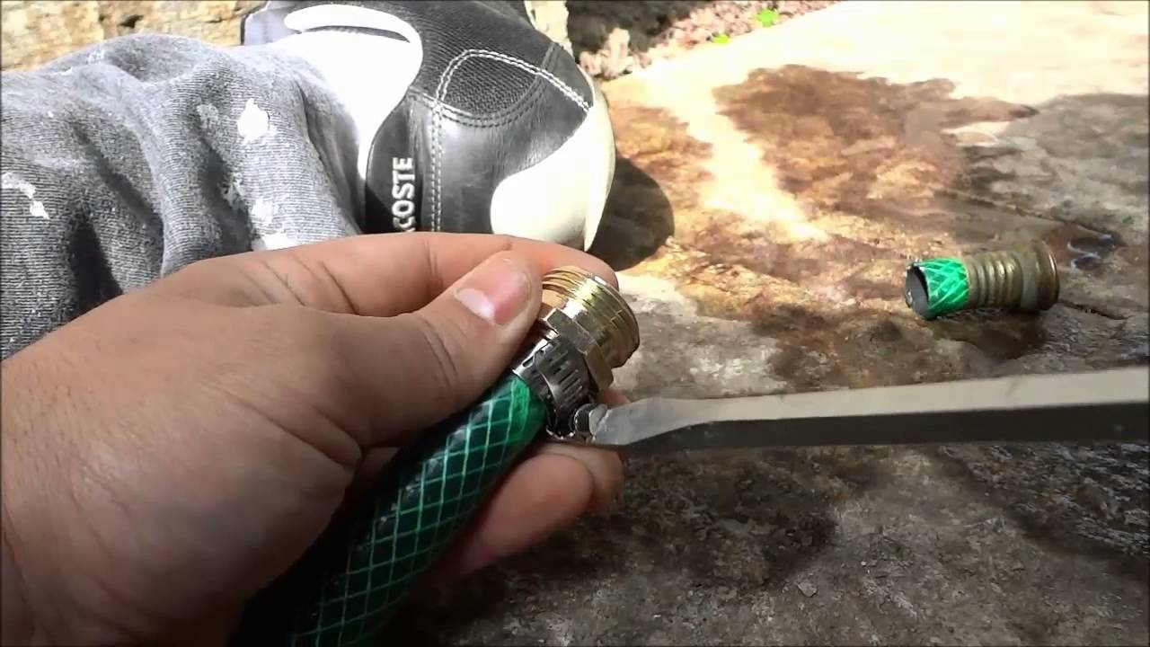 How To Install A Hose End EASILY DIY Garden Hose Repair YouTube