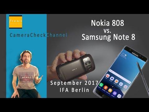 Samsung NOTE 8 vs. NOKIA 808 - Camera Test Check