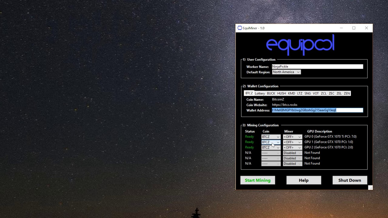 EquiMiner 1 0 Tutorial by Jason Hect