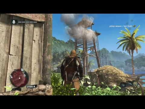 Assassin's Creed IV Black Flag Free Roam fighting kills Brutal Merchant outfit