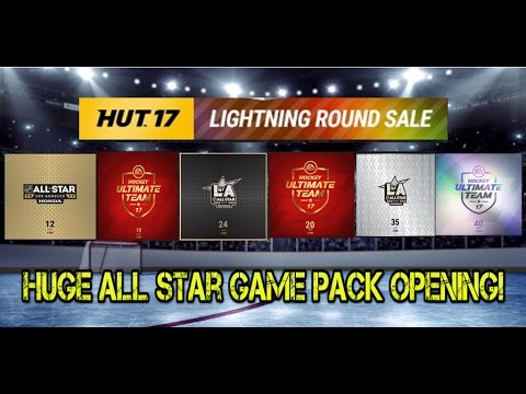 NHL 17 HUGE ALL STAR GAME PACK OPENING! EVERY SINGLE LIGHTNING ROUND SALE PACK!