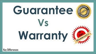 Guarantee Vs Warranty: Difference Between them with definition and Comparison Chart