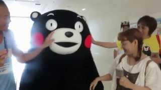 2015.7.24 スクエア2周年当日朝9時。くまモンサプライズ登場!!待ち...