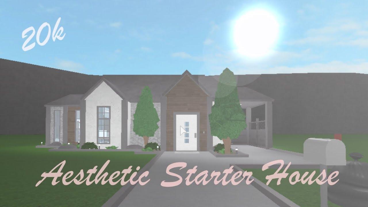 Bloxburg Aesthetic Starter House 20k Youtube