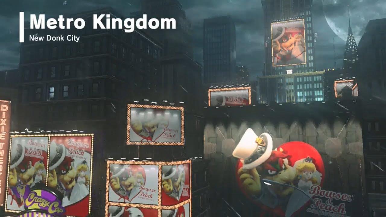 Super Mario Odyssey Metro Kingdom All Power Moons City Coins