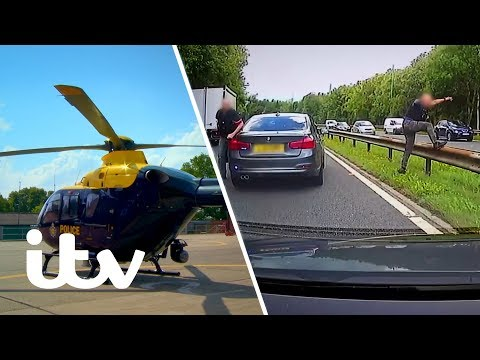 Police Hunt Down a Fleeing Murder Plot Suspect | 999: Britain From Above | ITV