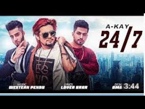 A-Kay - 24/7   Western PenduZ   Latest Punjabi Song 2017   Just Bass