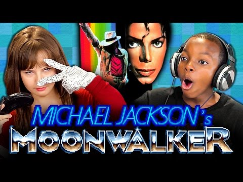 MICHAEL JACKSON'S MOONWALKER GAME (Teens React: Retro ...