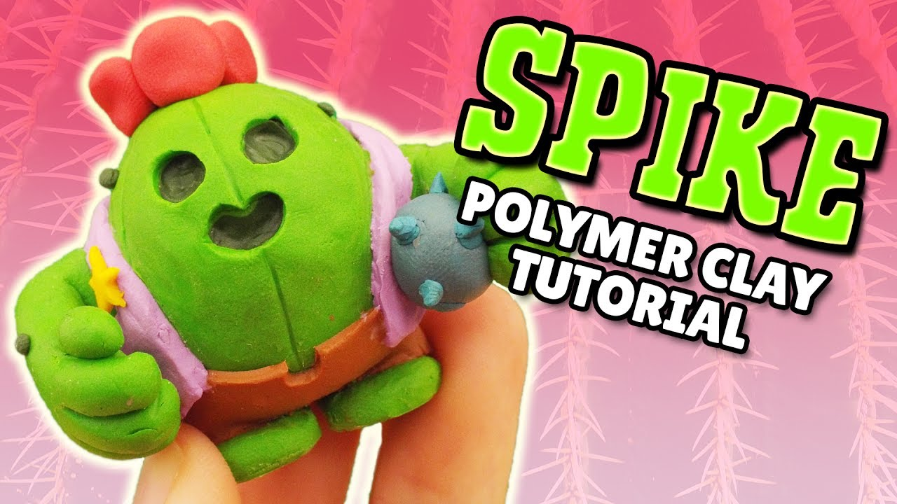 Making SPIKE from Brawl Stars in POLYMER CLAY!