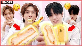 [ENG] *THE MOST POPULAR FOOD among K-POP IDOLS!* first time you've seen a new SBS inkigayo sandwich!