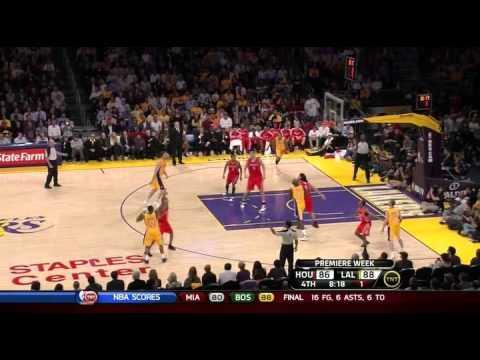 Rockets 110 @ Lakers 112 | Blake game-winning three | 10-26-10 (Opening Night)