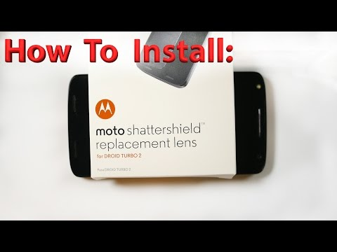 How to: Droid Turbo 2 ShatterShield Replacement Lens Installation