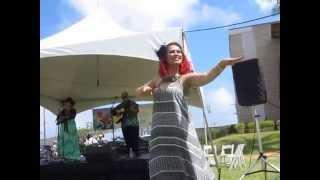 """Natalie Ai Kamauu - """"Ku`u Pua Pakalana"""" with Hula"""