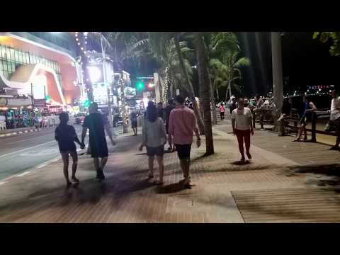 Walking on Beach Road January 1, 2018 . Pattaya Beach