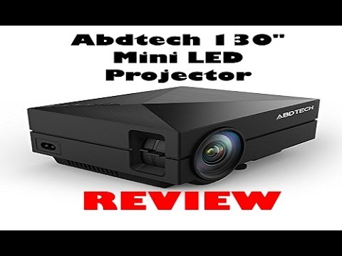 Abdtech 130 mini led projector review youtube for Small video projectors reviews