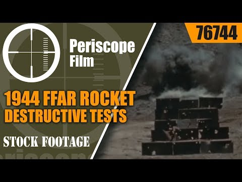 1944 FFAR ROCKET DESTRUCTIVE TESTS OF ARMOR PLATING  WWII 76744