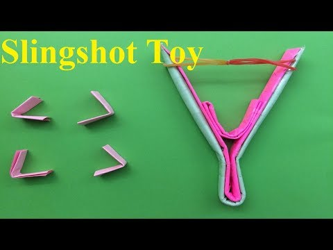 How To Make a Paper Slingshot-Toy Weapon | Origami Paper Easy Slingshot-Toy Weapon
