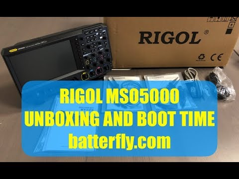 RIGOL MSO5000 Unboxing and Boot Time