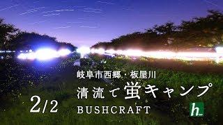 清流で蛍キャンプ 2/2【ハンモック泊】【ホタル】【ブッシュクラフト】 thumbnail