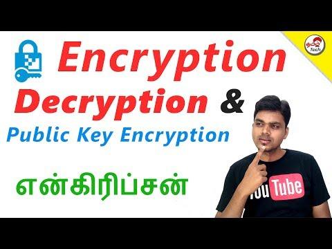 What is Encryption , Decryption & Public Key Encryption ?   Tamil Tech Explained