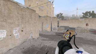 CS:GO de_dust2 in Portal 2.