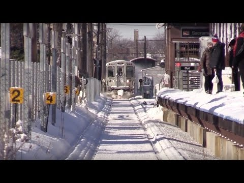 Chicago CTA Metra 2015 Blizzard