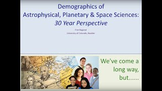 Demographics of Astrophysical, Planetary & Space Sciences: 30 Year Perspective