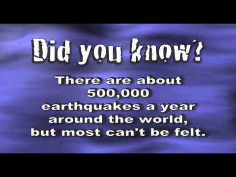 Earthquakes Song - Science Music Video