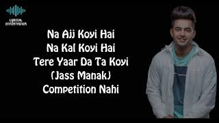 No Competition Full Song With Lyrics Jass Manak ft Divine | No Competition Song Jass Manak