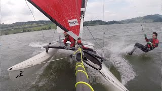 Hobie Cat 16 heavy wind with spi