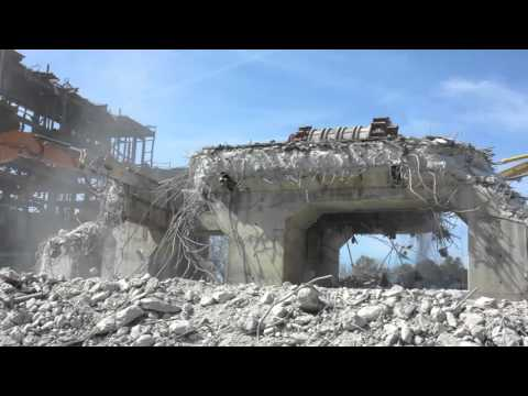 Cape Fear Turbine Deck Demolition