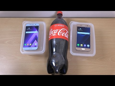 Samsung Galaxy A5 2017 vs Galaxy S7 Coca-Cola Freeze Test 11 Hours! Will It Survive?