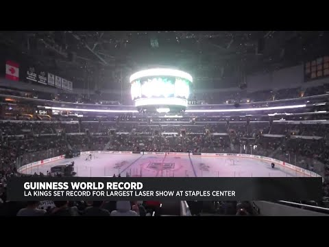 LA Kings Set Guinness World Record For Largest Laser Show