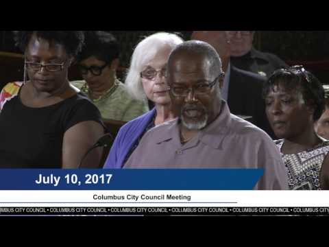 Columbus City Council Meeting, July 10, 2017