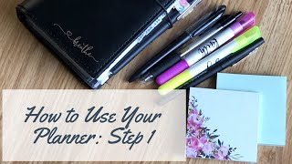The Secret to Using a Paper Planner! How to Use a Planner Step 1