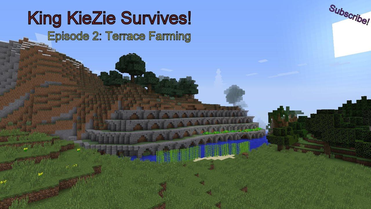 Minecraft Lets Play Ep 2 Terrace Farm Youtube