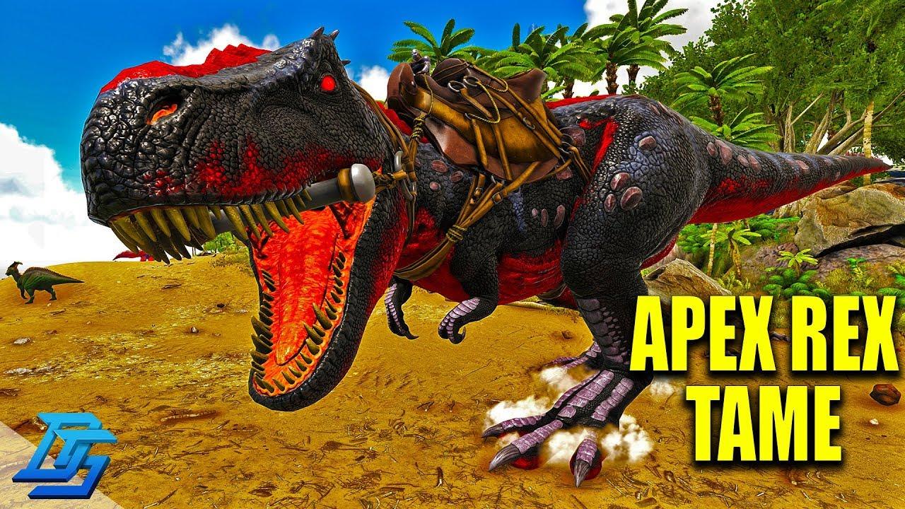 Apex Trex Tame Our Boss Killer Ark Primal Fear Ark Survival Evolved Modded Lets Play Pt